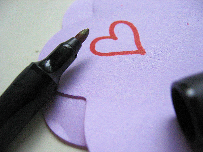 Pen and heart